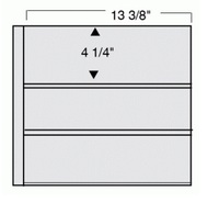 3 Pocket Double Sided Page Per 5 For #10 Envelopes